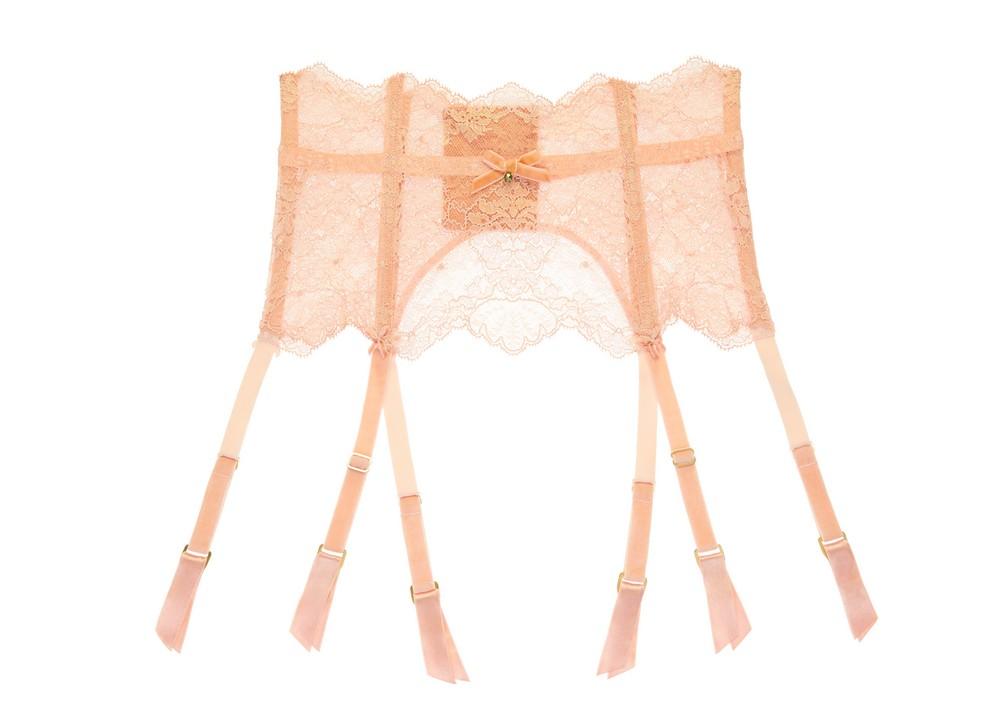 Lurex Lace - Vintage Peach